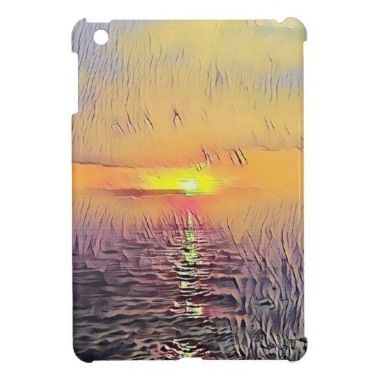 Pretty Artistic Painted Seascape Sunrise Cover For The iPad Mini