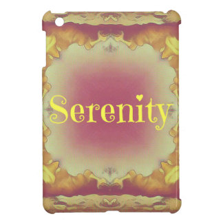Pretty Artistic Rose Yellow Framed 'Serenity' Cover For The iPad Mini