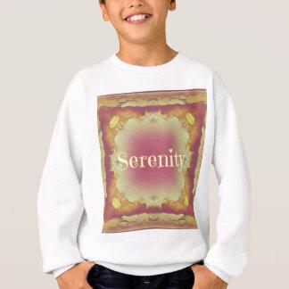 Pretty Artistic Rose Yellow Framed 'Serenity' Sweatshirt