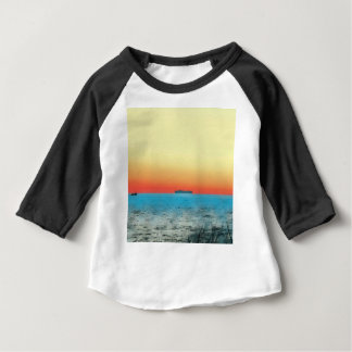 Pretty Artistic Seascape Naval ship Silhouette Baby T-Shirt