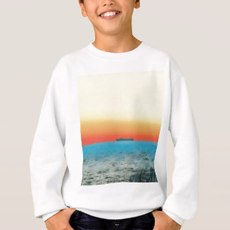 Pretty Artistic Seascape Naval ship Silhouette Sweatshirt