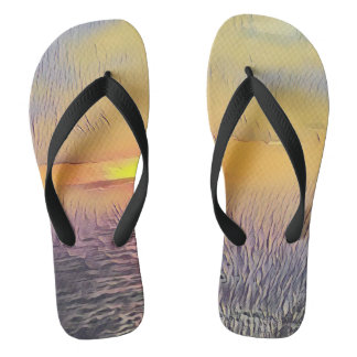 Pretty Artistic Sunrise on The Ocean Thongs