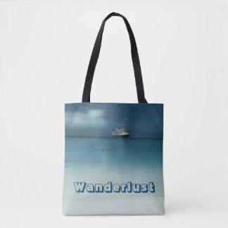 Pretty Artistic Travel Ocean Wanderlust Tote Bag