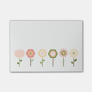 Pretty as a Posy Pink Flowers Post-It Notes