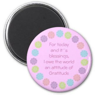 Pretty Attitude of Gratitude flower magnet