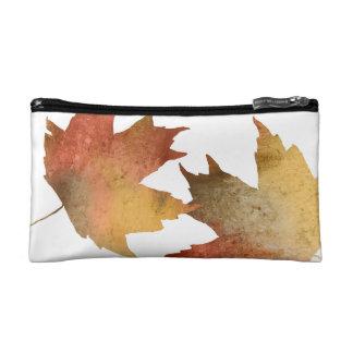 Pretty Autumn Leaves Cosmetics Bags