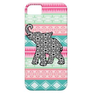 Pretty Aztec Pattern Elephant iPhone Case