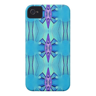 Pretty Azure Blue Lilac Girly Pattern iPhone 4 Case-Mate Cases