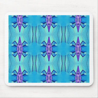 Pretty Azure Blue Lilac Girly Pattern Mouse Pad