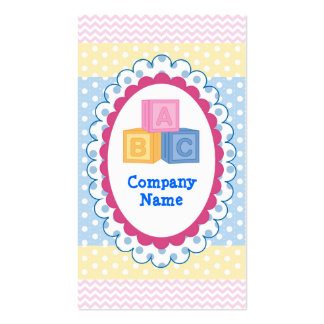 Pretty Baby ABC Blocks Polkadot Business Cards