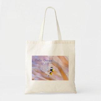 pretty baby anemone fish tote bag