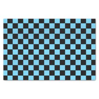 Pretty Baby Blue and Black Checks Tissue Paper