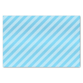 Pretty Baby Blue and Diagonal Stripes Tissue Paper