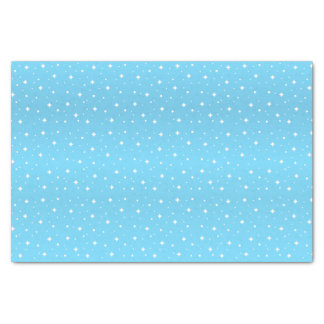 Pretty Baby Blue and White Stars Tissue Paper