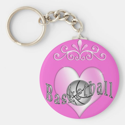 Pretty Basketball Keychains for Women and Girls