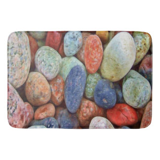 Pretty beach rocks Bathroom mat