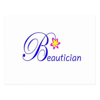 Pretty Beautician Postcard