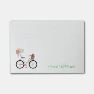Pretty Bicycle Personalized Post It Note Pad Post-it® Notes