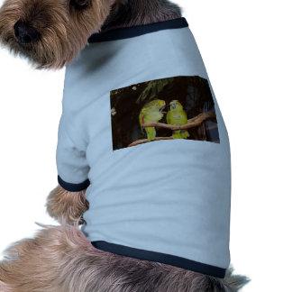 Pretty Bird Couple Dog T-shirt