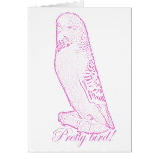 Pretty Bird in pink card