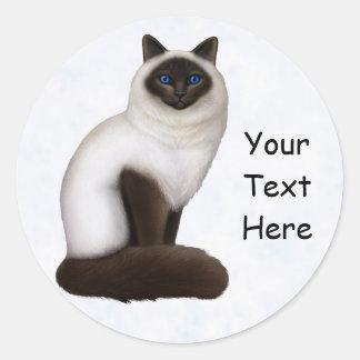 Pretty Birman Kitty Cat Customizable Sticker
