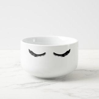 Pretty Black Eyelashes Soup Mug