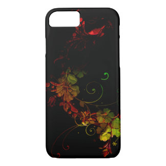 Pretty Black Floral Design Phone Case