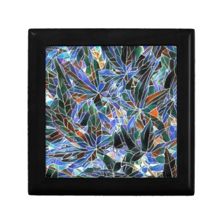 Pretty Black Lavender Artistic Stained Glass Gift Box
