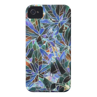 Pretty Black Lavender Artistic Stained Glass iPhone 4 Case-Mate Case