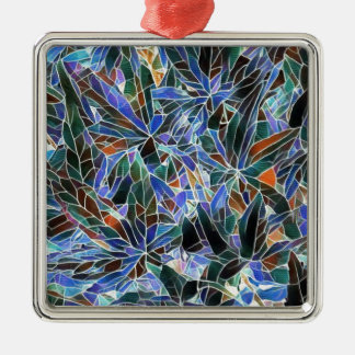 Pretty Black Lavender Artistic Stained Glass Metal Ornament