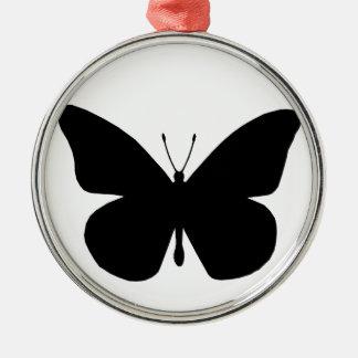 Pretty Black Monarch Butterfly Metal Ornament