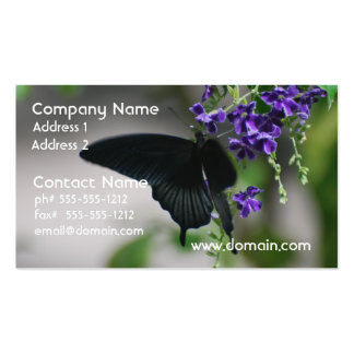 Pretty Black Swallowtail Butterfly Business Cards