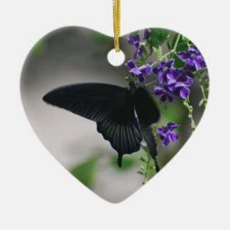 Pretty Black Swallowtail Butterfly Christmas Tree Ornaments