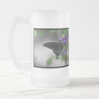 Pretty Black Swallowtail Butterfly Beer Mugs