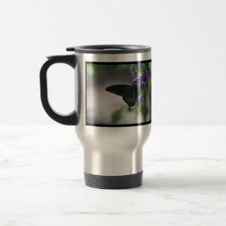 Pretty Black Swallowtail Butterfly Mugs