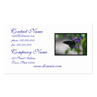 Pretty Black Swallowtail Butterfly Pack Of Standard Business Cards