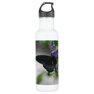 Pretty Black Swallowtail Butterfly 710 Ml Water Bottle