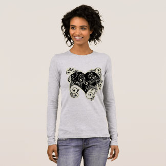 Pretty Black Tribal Heart Women's Shirt