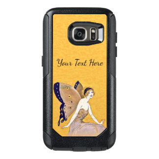 Pretty Blond Fairy Curly Hair Butterfly Wings OtterBox Samsung Galaxy S7 Case