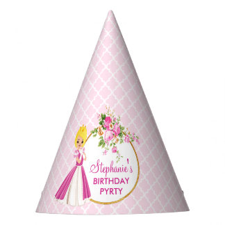 Pretty Blonde Princess Birthday Party Hat