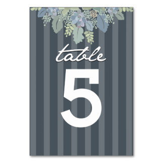 Pretty Bloom Vintage Garden Wedding Table Number Table Card