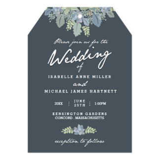Pretty Blooms Vintage Gardens Wedding Invitation
