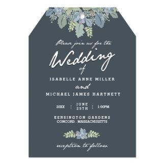 Pretty Blooms Vintage Gardens Wedding Invitation