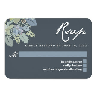 Pretty Blooms Vintage Gardens Wedding RSVP Card 9 Cm X 13 Cm Invitation Card