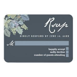 "Pretty Blooms Vintage Gardens Wedding RSVP Card 3.5"" X 5"" Invitation Card"