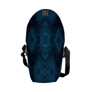 Pretty Blue and Black Abstract Messenger Bags