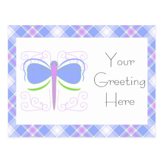 Pretty Blue And Green Dragonfly Postcard