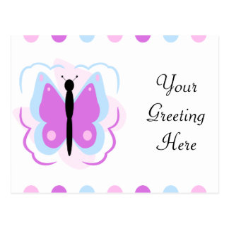 Pretty Blue And Purple Butterfly Postcard