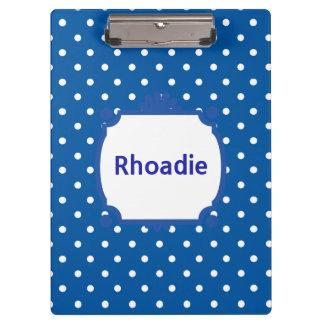 Pretty Blue and White Polka Dots Clipboard