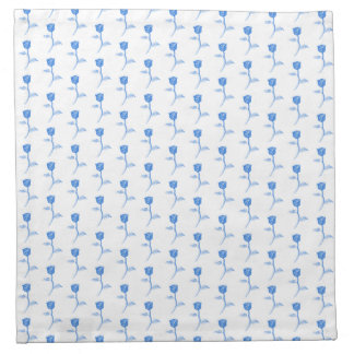 Pretty Blue and White Roses Pattern. Cloth Napkin